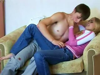 Teen Couple Foreplay And Hot Fuck Fun