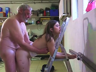 Thick Old Dick Feels Good In Her Teen Cunt