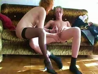 Russian MILF Redhead Eager For That Teen Cock