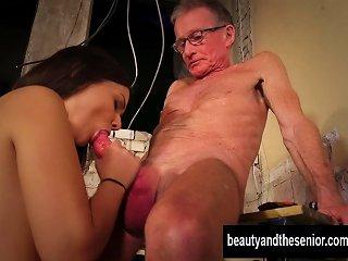 Sexy Teen Anina Gets Nailed By Old John