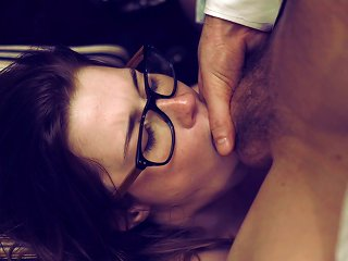 Cute Teen Nerd Fucked Aggressively In Torn Pantyhose