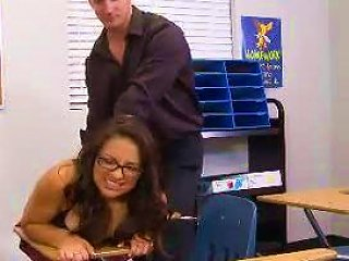High Big Tits Brunette Schoolgirl Rikky Nix Classroom Fucking