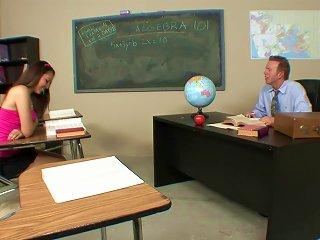 Naughty Schoolgirl Fucks Her Hot Teacher After Class