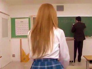 Sakamoto Hikari Schoolgirl Gets Fucked During Class