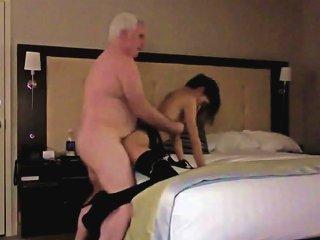 Lucky Granpa Scored A Slutty Teen Chick