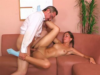 Pigtailed Teen Stella Is Wanking A Dick
