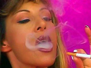 Schoolgirl Skirt On Kinky Smoking Girl