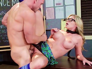 Cute Blonde With Big Boobies And Her Cocky Teacher