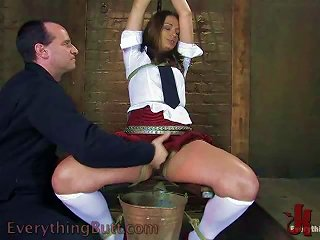 Dirty Schoolgirl Gets An Enema