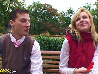 Cute European School Girl Fucks Two Cocks In Pov Mmf Threesome