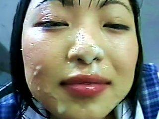 Stunning Japanese Schoolgirl Gets A Hot Facial