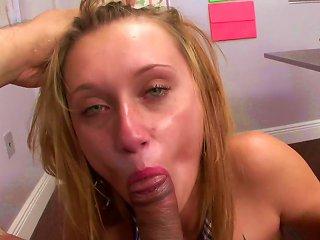 Blonde Sucking Cock In Pov