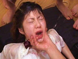 Asian Chicks Are Having Awesome Gangbang