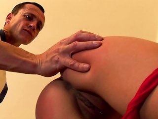 Sexy Babe Abelia Being Spanked So Freaking Hot