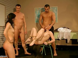 Dominated Girls Getting Abused By Teachers In The Anal School