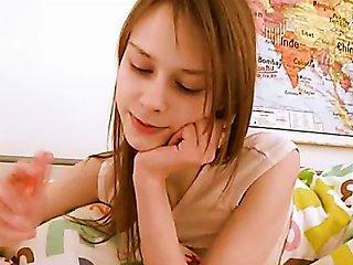 Teen Schoolgirl Doing Vagina Homework